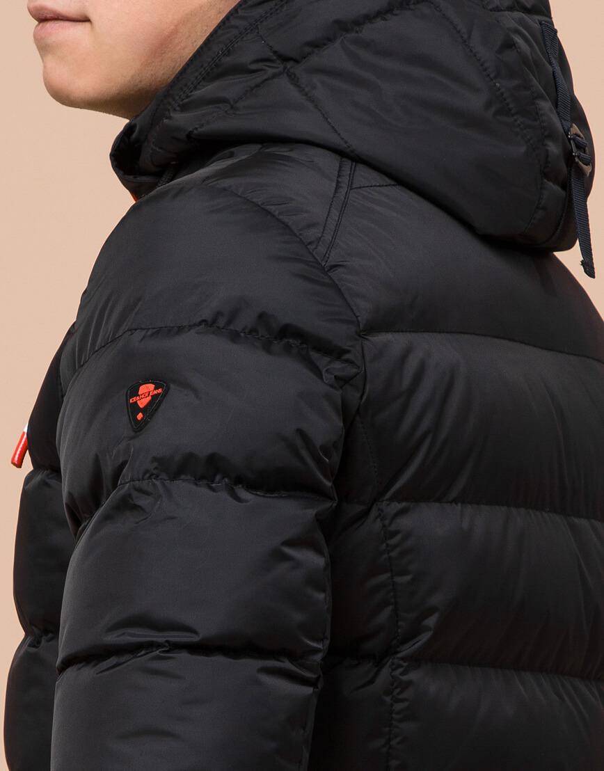 Комфортная подростковая куртка цвет черный модель 75263 оптом фото 7