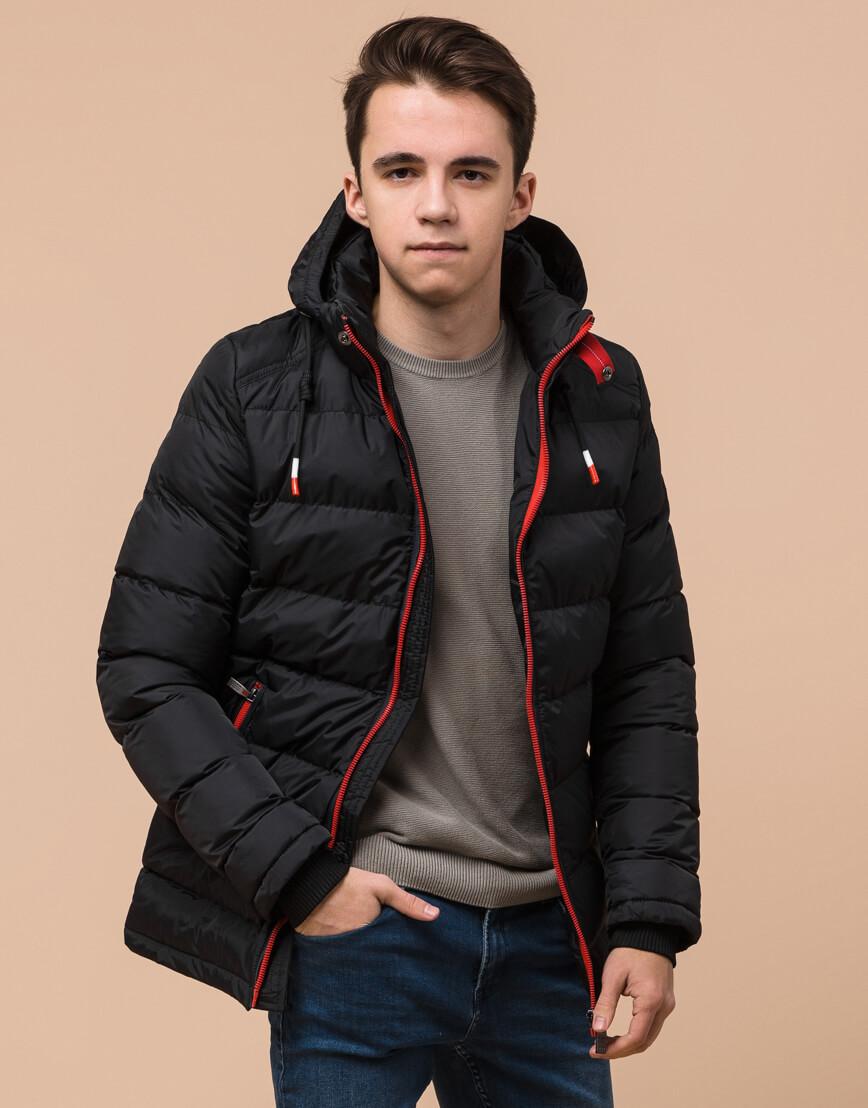 Комфортная подростковая куртка цвет черный модель 75263 оптом фото 2