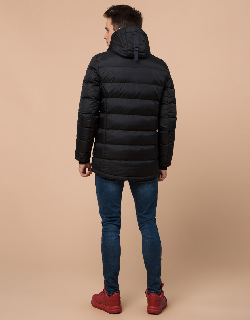 Комфортная подростковая куртка цвет черный модель 75263 оптом фото 4