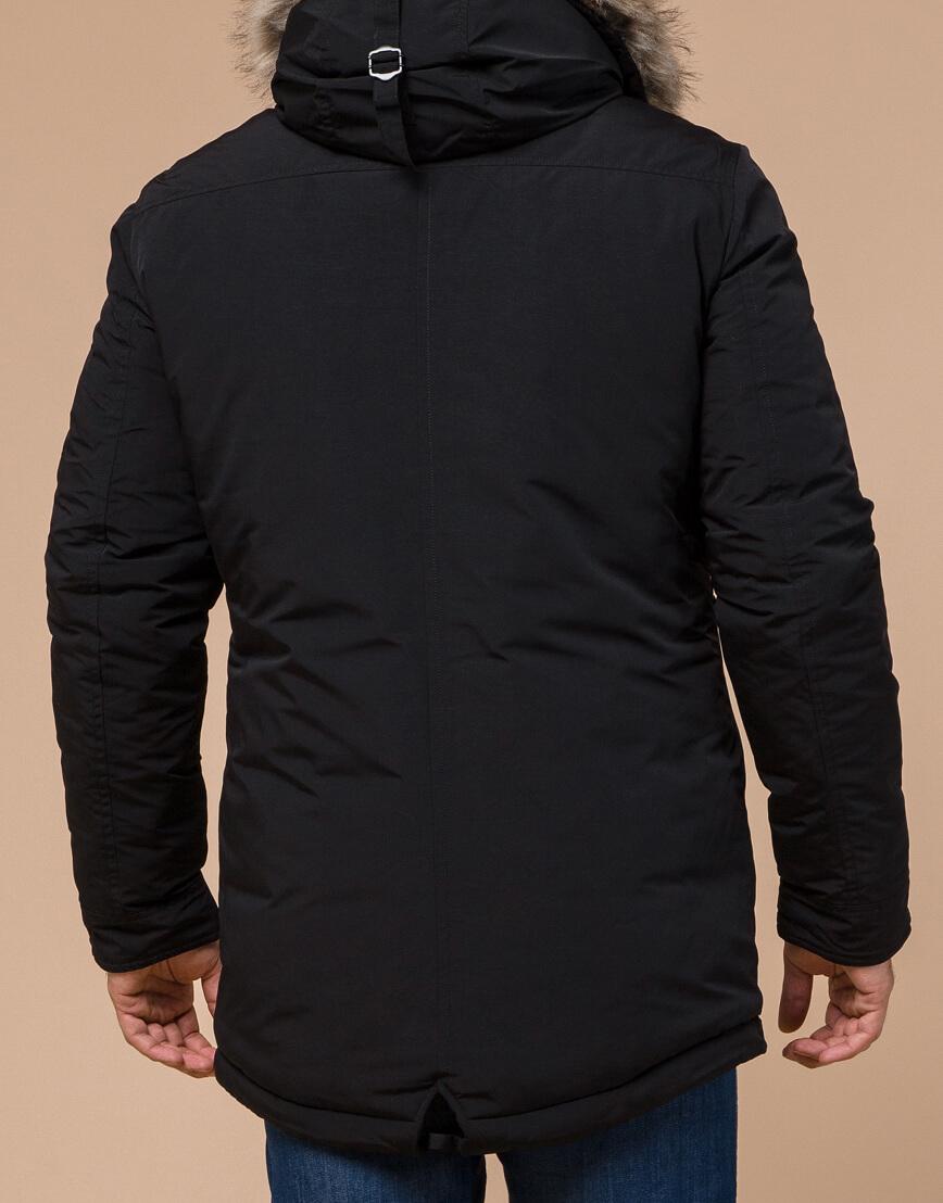 Зимняя мужская парка черного цвета модель 15231 оптом фото 3