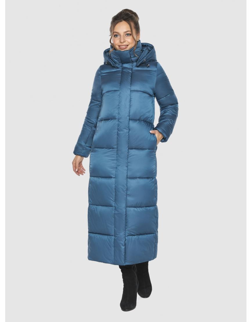 Женская куртка тёплая Ajento аквамариновая 21972 фото 6