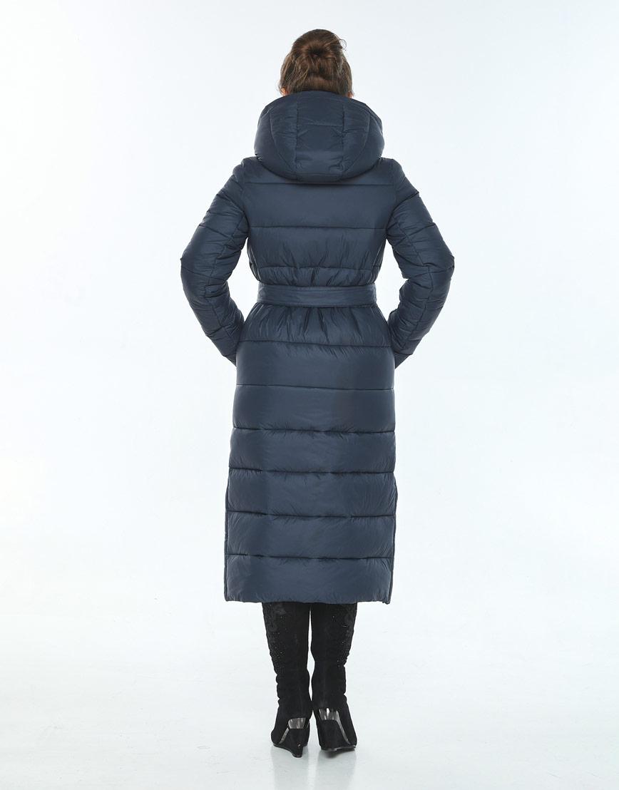 Трендовая куртка женская Ajento для зимы синяя 21207 фото 3