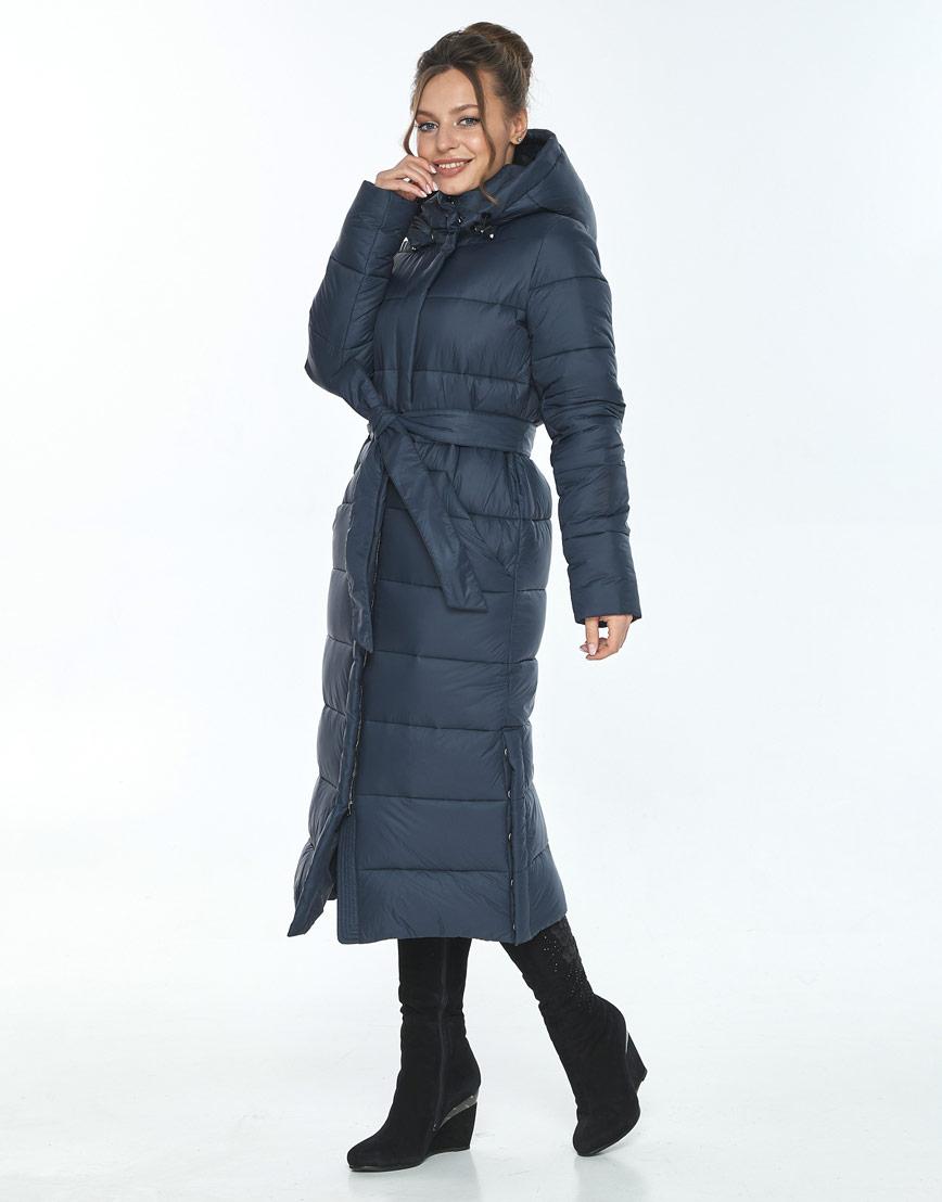 Трендовая куртка женская Ajento для зимы синяя 21207 фото 2