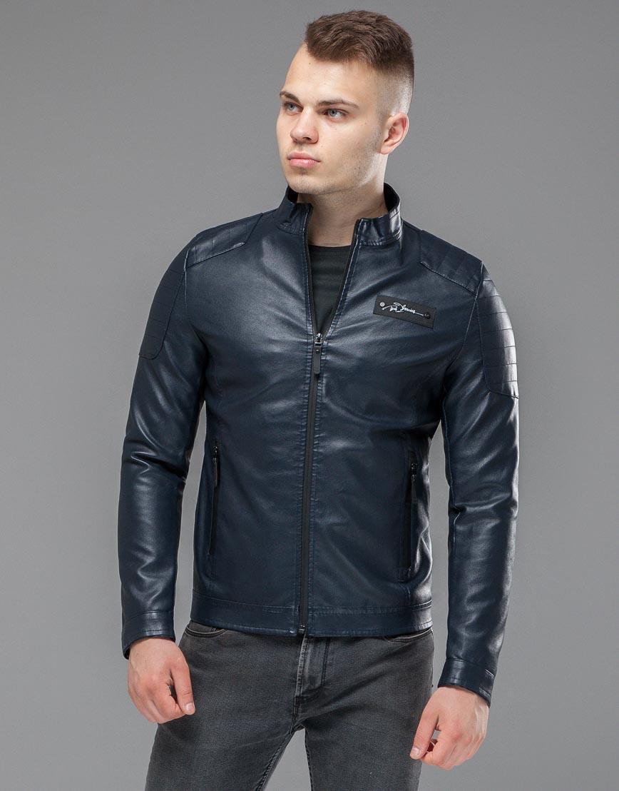 Темно-синяя куртка осенне-весенняя удобного кроя модель 36361