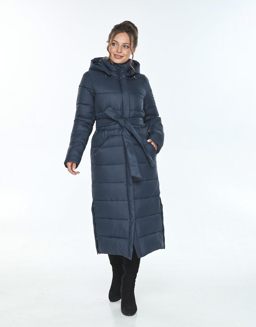 Трендовая куртка женская Ajento для зимы синяя 21207 фото 1