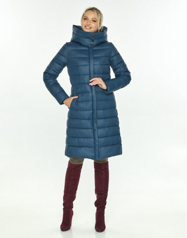 Куртка длинная женская Kiro Tokao синяя 60084 фото 1