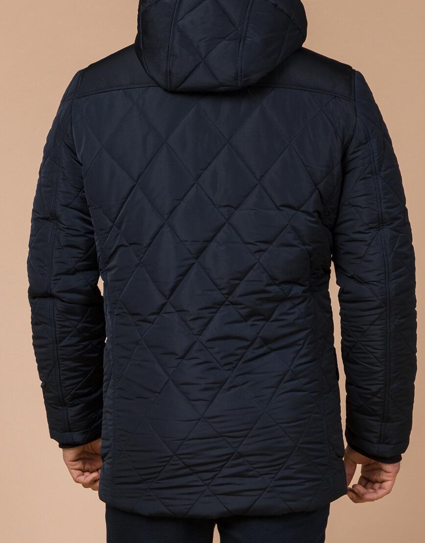 Синяя куртка качественного пошива на зиму модель 44842 фото 3