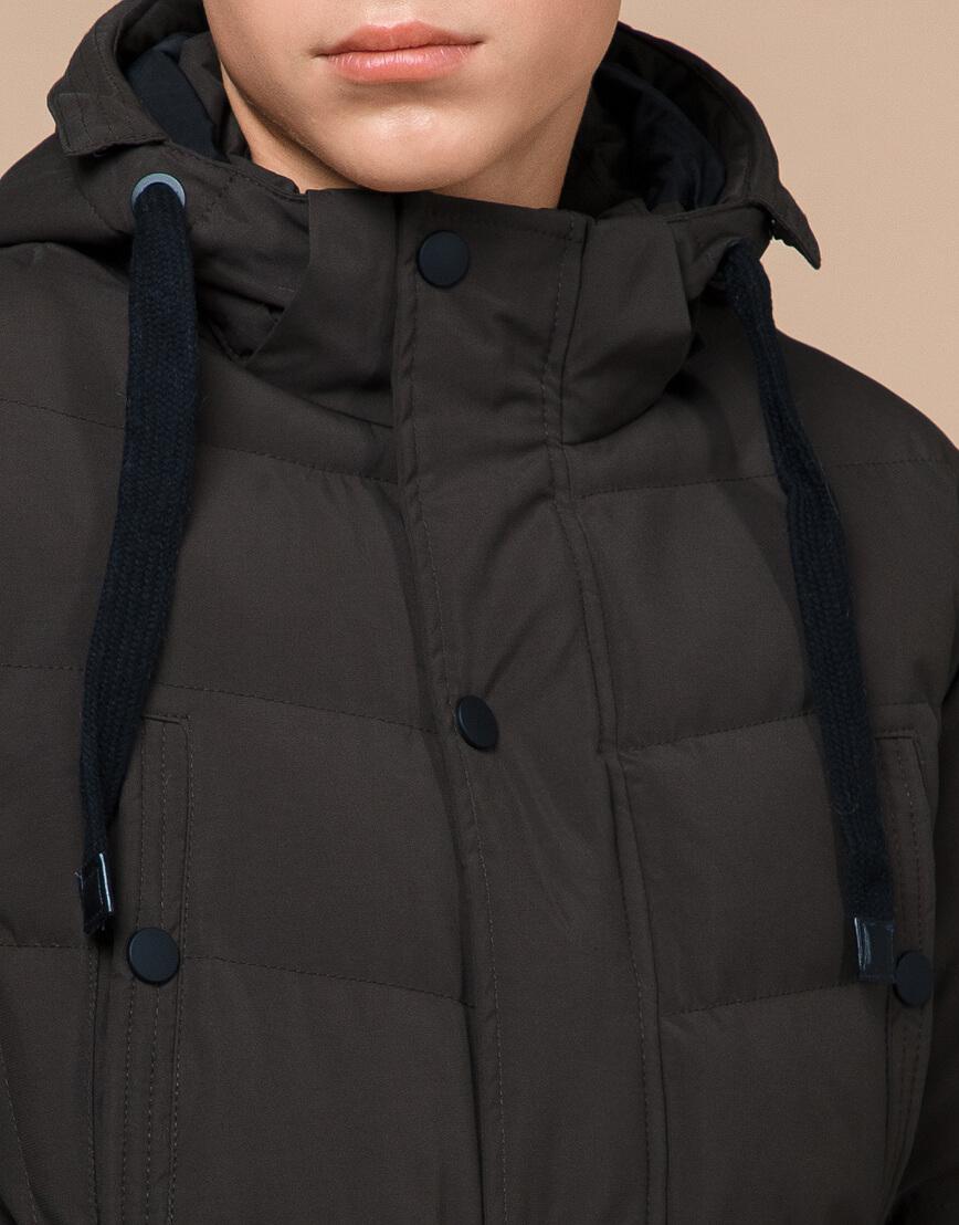 Куртка зимняя цвета кофе трендовая модель 25480 фото 5