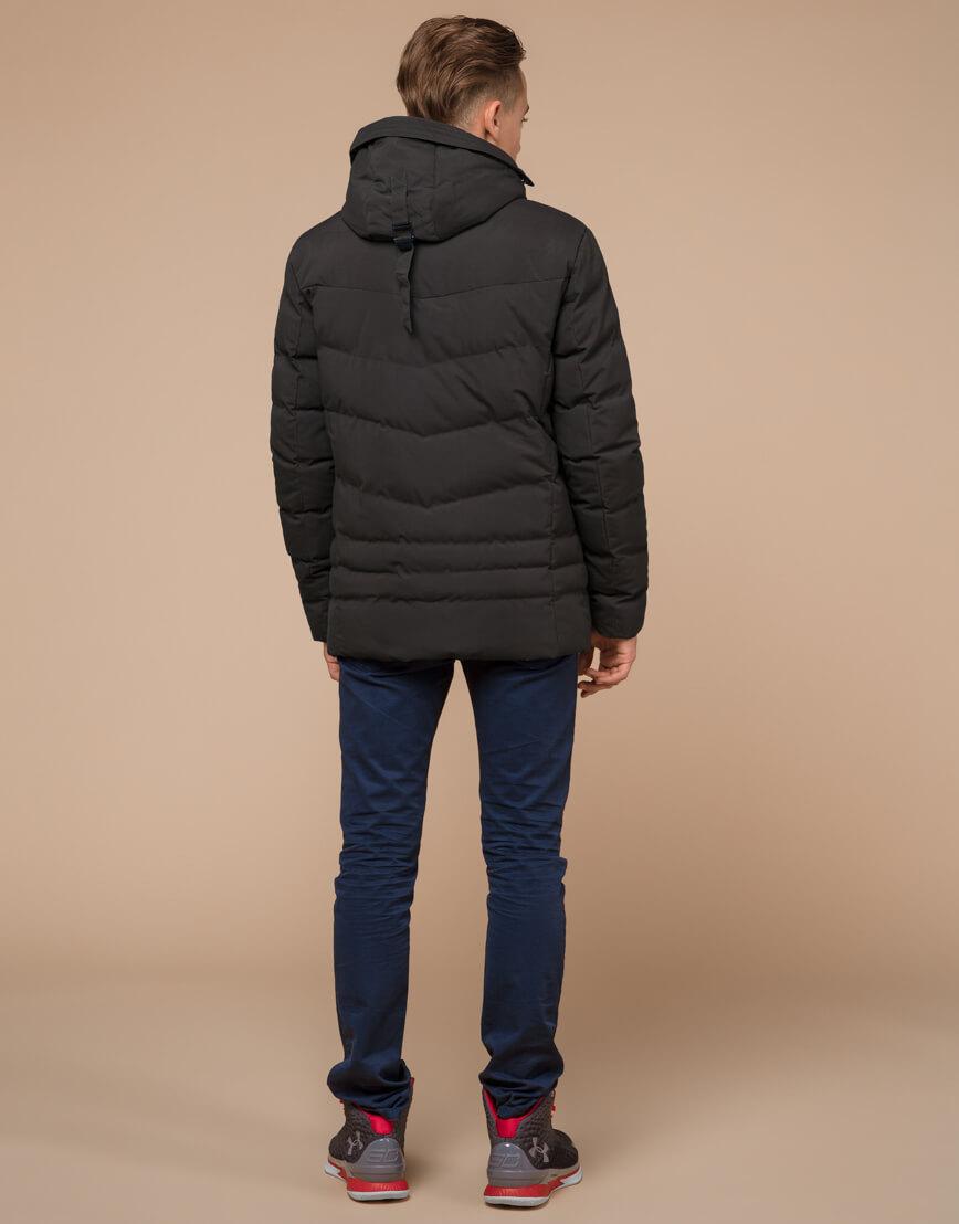 Куртка зимняя цвета кофе трендовая модель 25480 фото 4