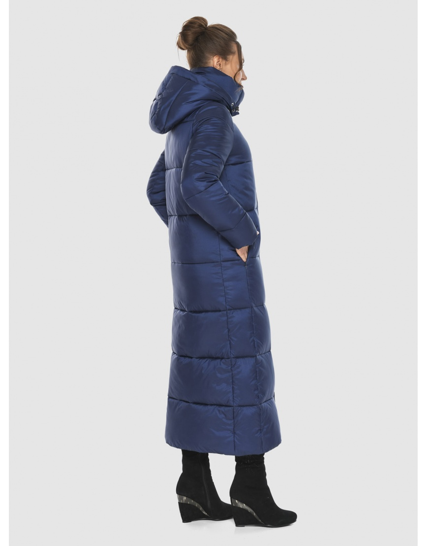 Длинная модная женская куртка Ajento синяя 21972 фото 4