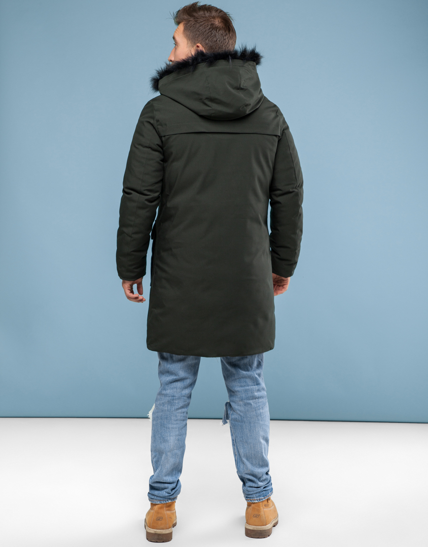 Парка Canada цвета хаки зимняя удобная мужская 8009 фото 4