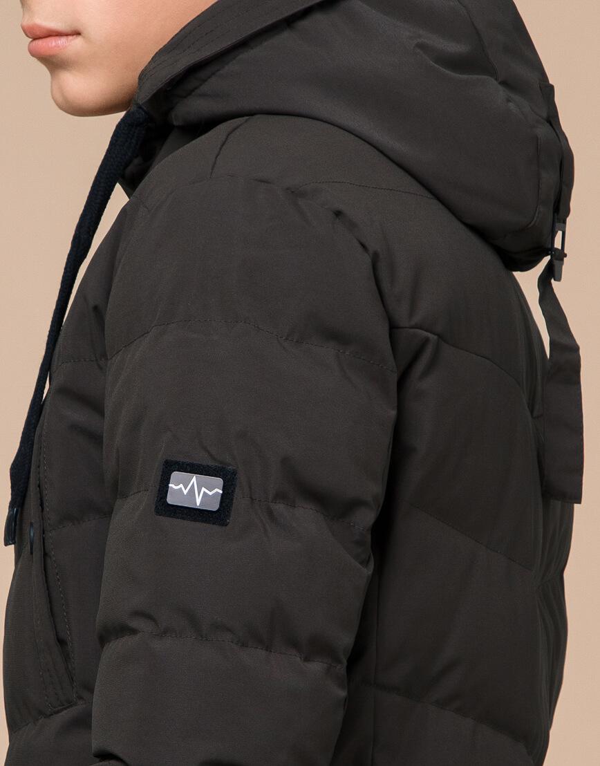 Куртка зимняя цвета кофе трендовая модель 25480 фото 7