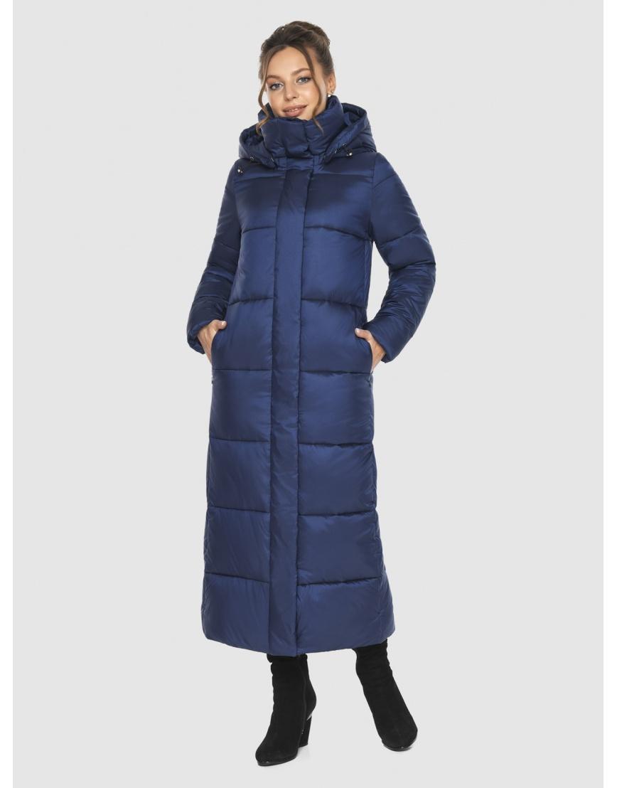 Длинная модная женская куртка Ajento синяя 21972 фото 1