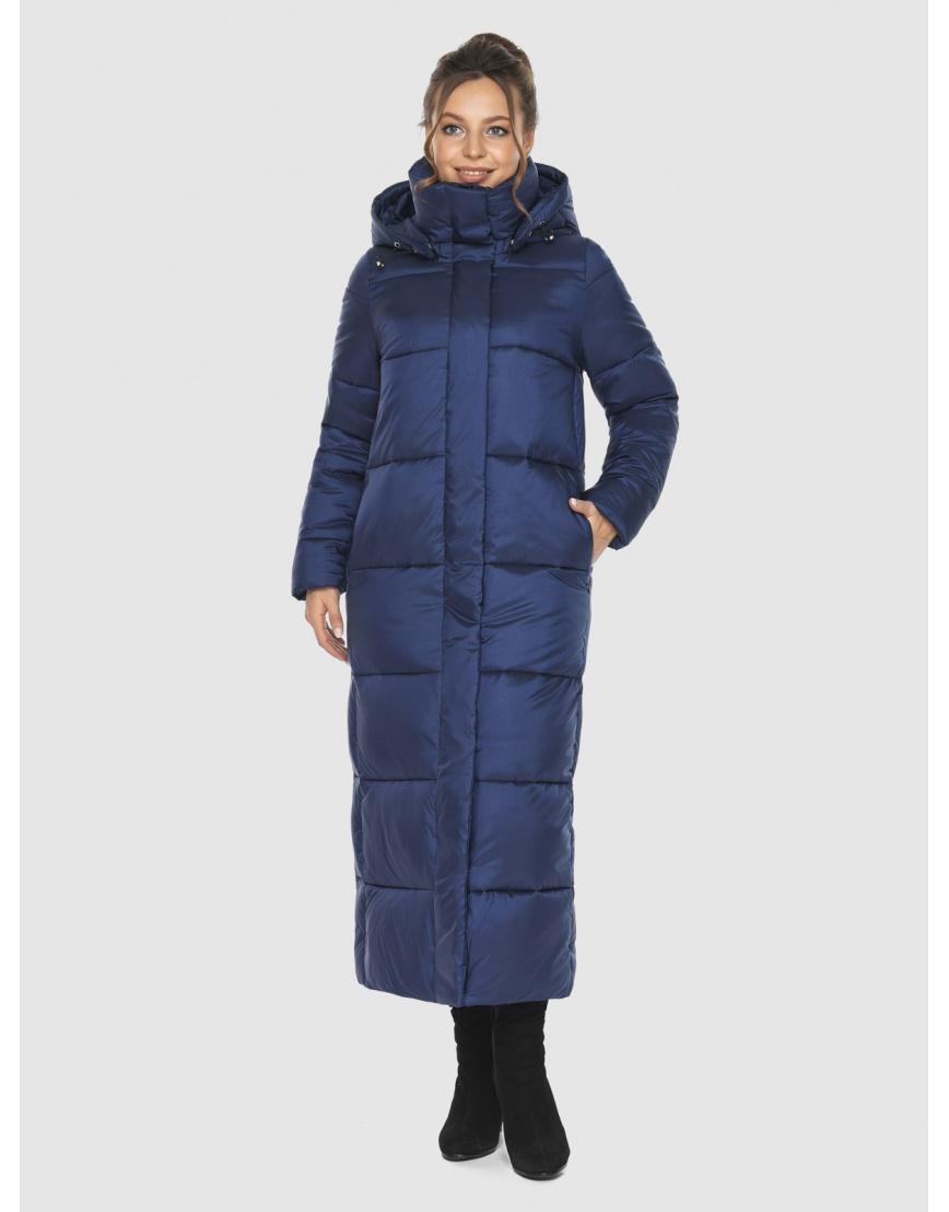 Длинная модная женская куртка Ajento синяя 21972 фото 6