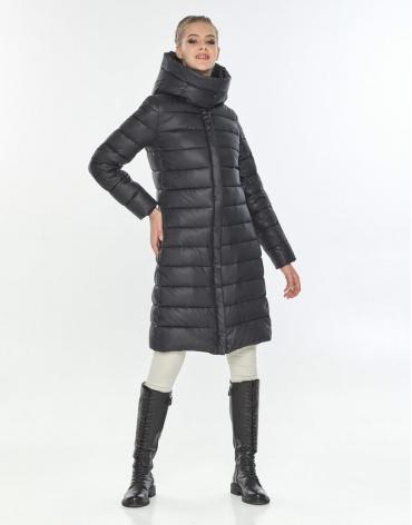 Длинная чёрная куртка зимняя женская Tiger Force TF-50245 фото 1