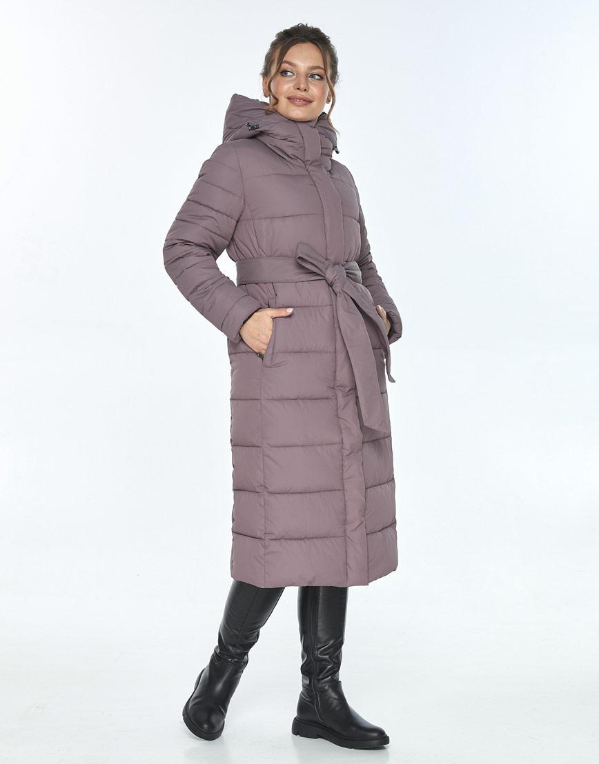 Куртка с капюшоном женская Ajento зимняя цвет пудра 21152 фото 2