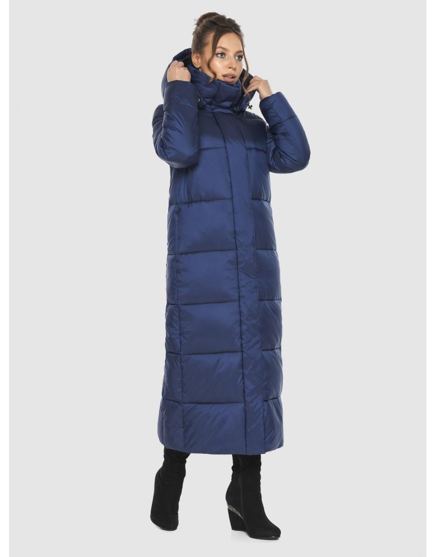Длинная модная женская куртка Ajento синяя 21972 фото 5