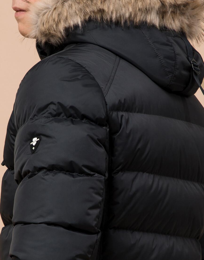 Теплая графитовая куртка подростковая модель 73563 оптом