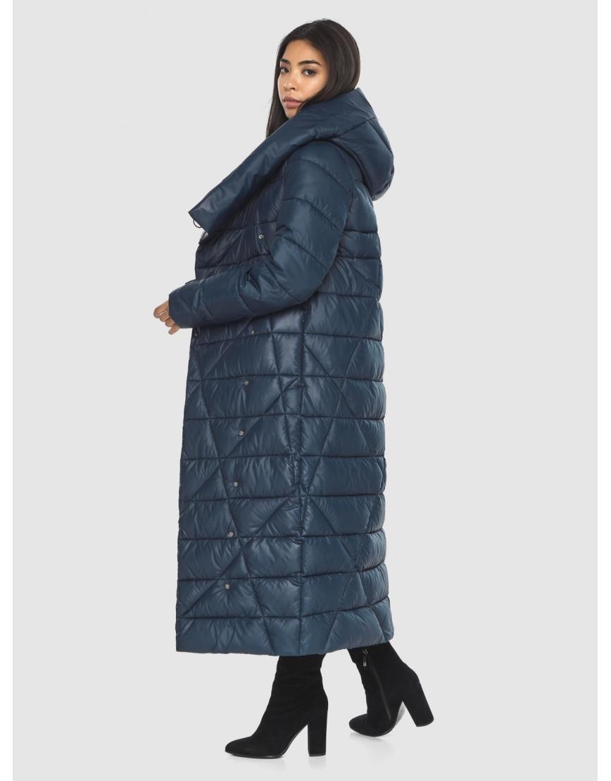 Куртка практичная женская синяя Moc длинная M6715 фото 6