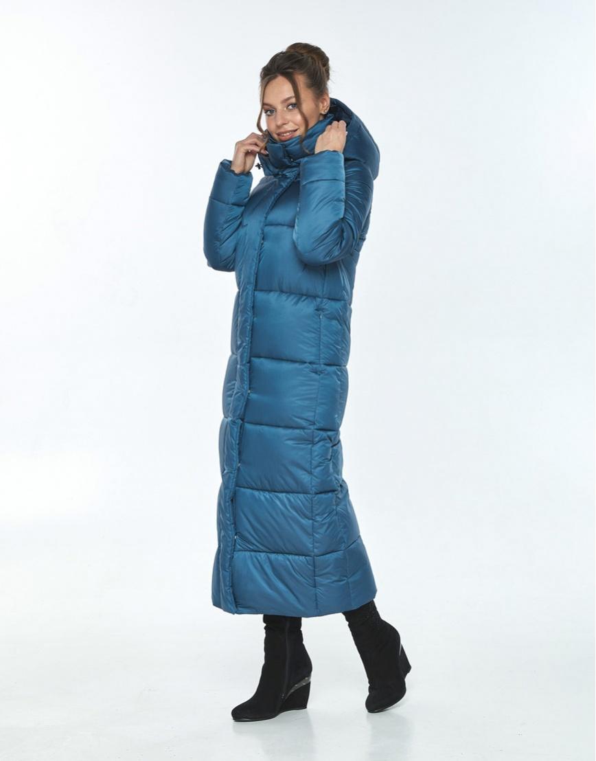 Куртка с воротником зимняя женская Ajento аквамариновая 21972 фото 2