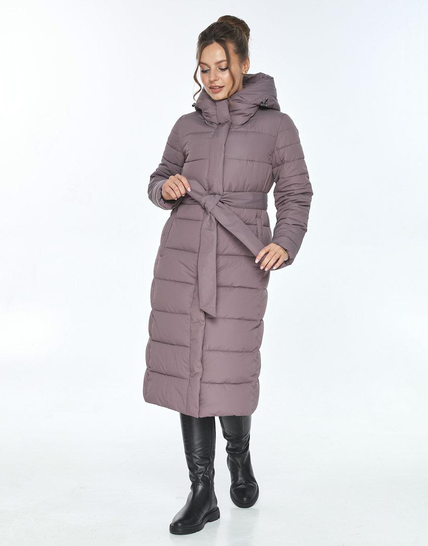 Куртка с капюшоном женская Ajento зимняя цвет пудра 21152 фото 1