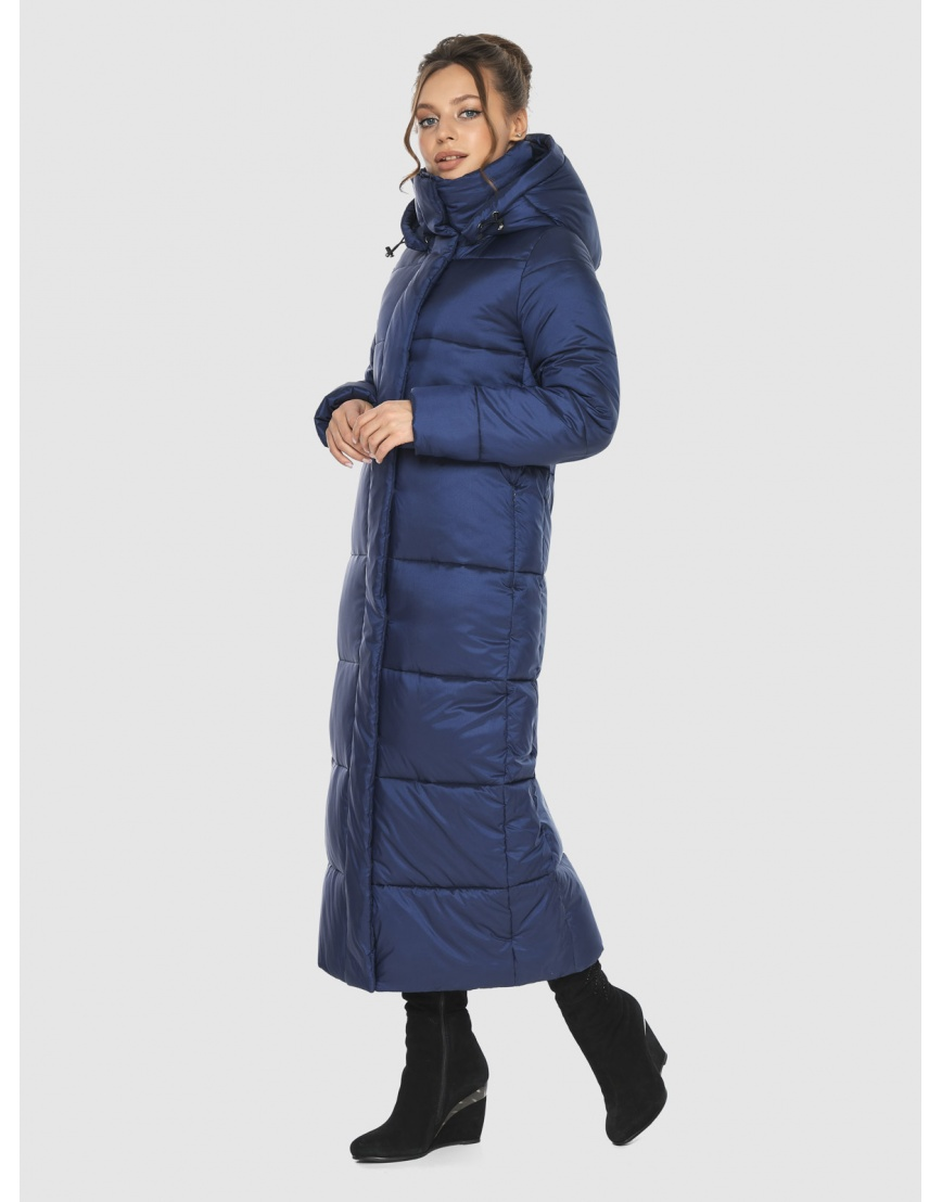Длинная модная женская куртка Ajento синяя 21972 фото 3