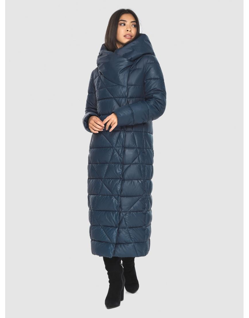 Куртка практичная женская синяя Moc длинная M6715 фото 5