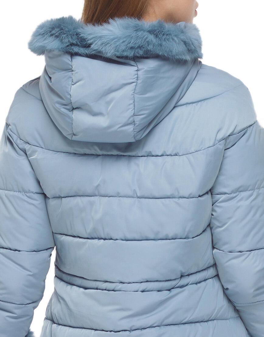 Куртка стильного фасона женская голубого цвета модель 2003