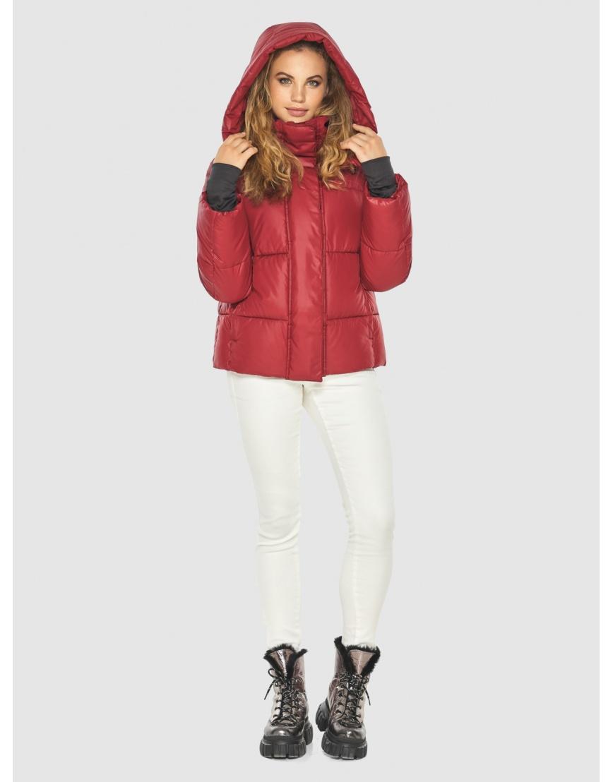 Трендовая красная куртка женская Kiro Tokao 60085 фото 6
