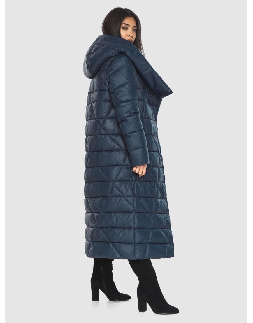 Куртка практичная женская синяя Moc длинная M6715 фото 4