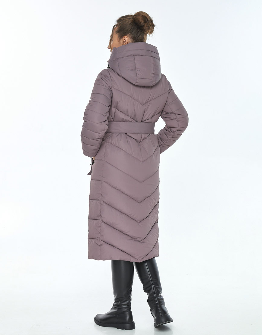 Куртка с капюшоном женская Ajento зимняя цвет пудра 21152 фото 3