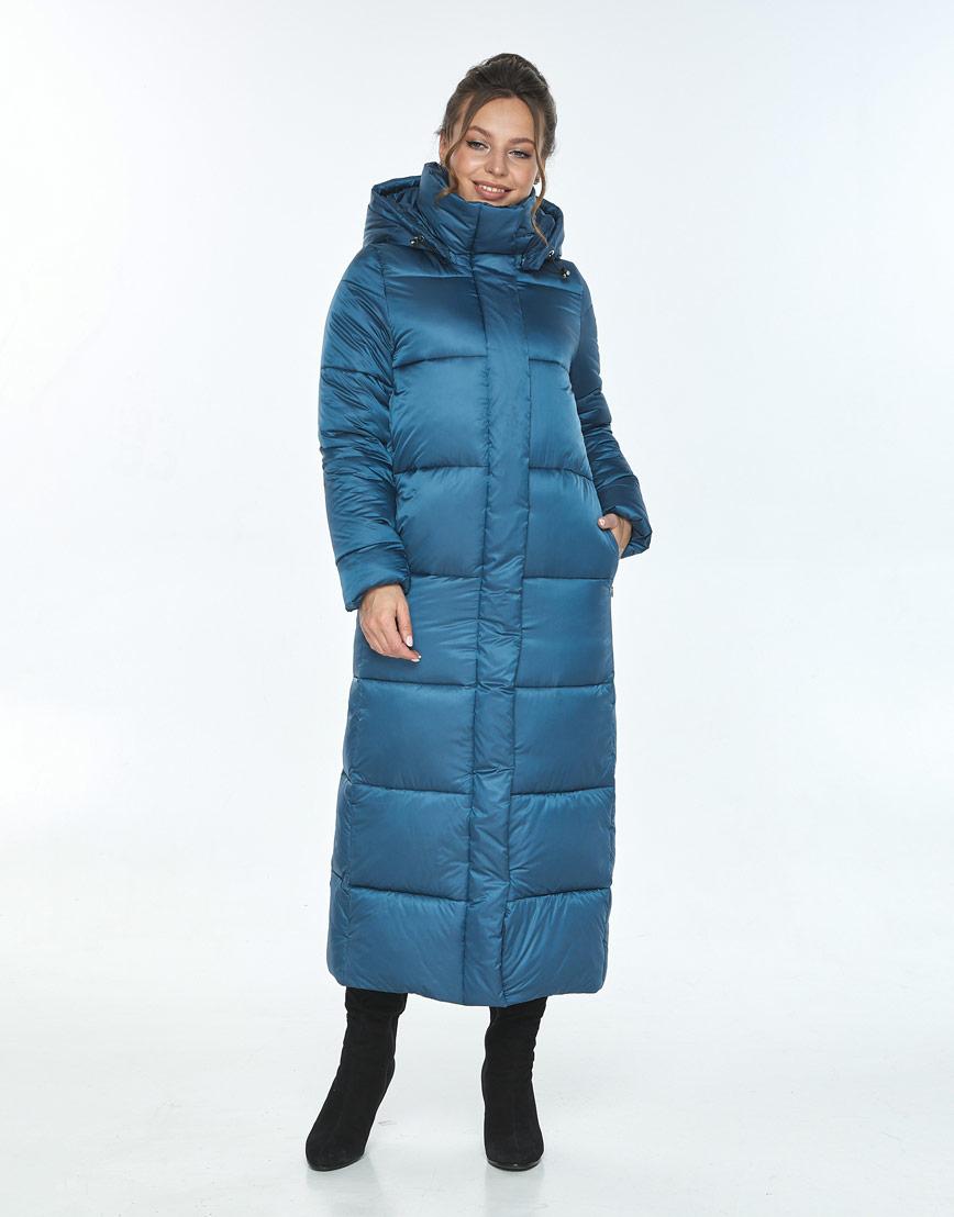 Куртка с воротником зимняя женская Ajento аквамариновая 21972 фото 1
