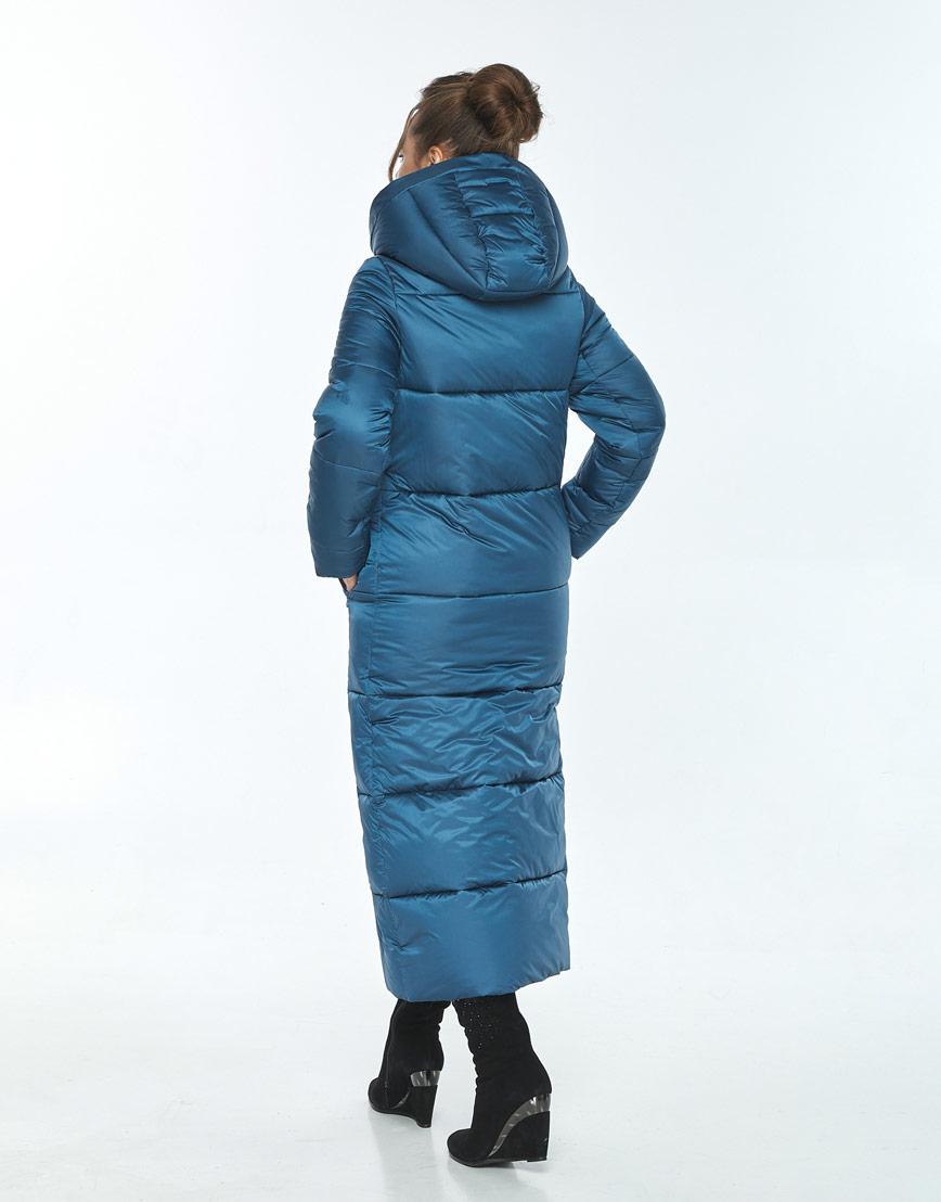 Куртка с воротником зимняя женская Ajento аквамариновая 21972 фото 3