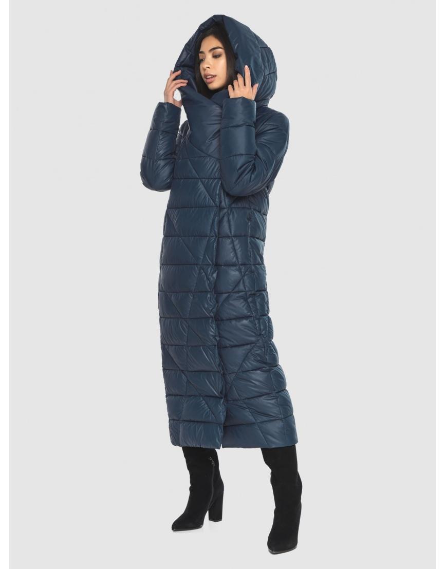 Куртка практичная женская синяя Moc длинная M6715 фото 3
