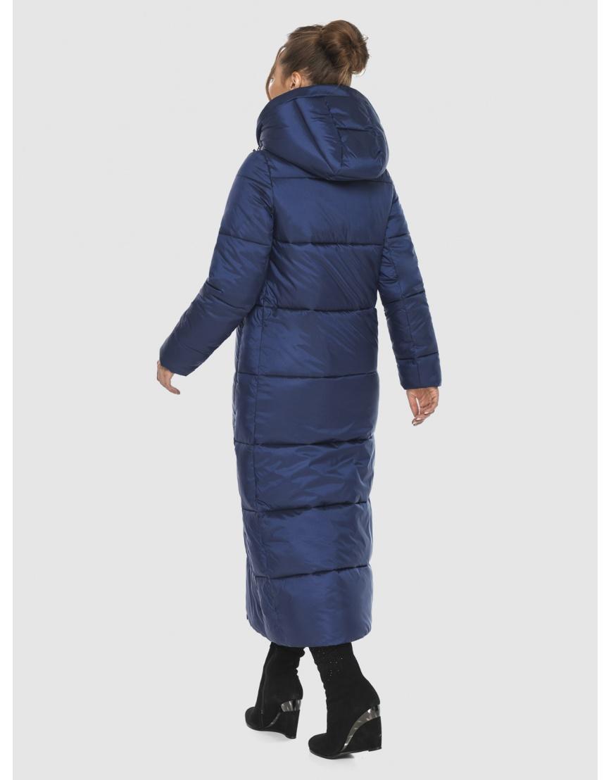 Длинная модная женская куртка Ajento синяя 21972 фото 2