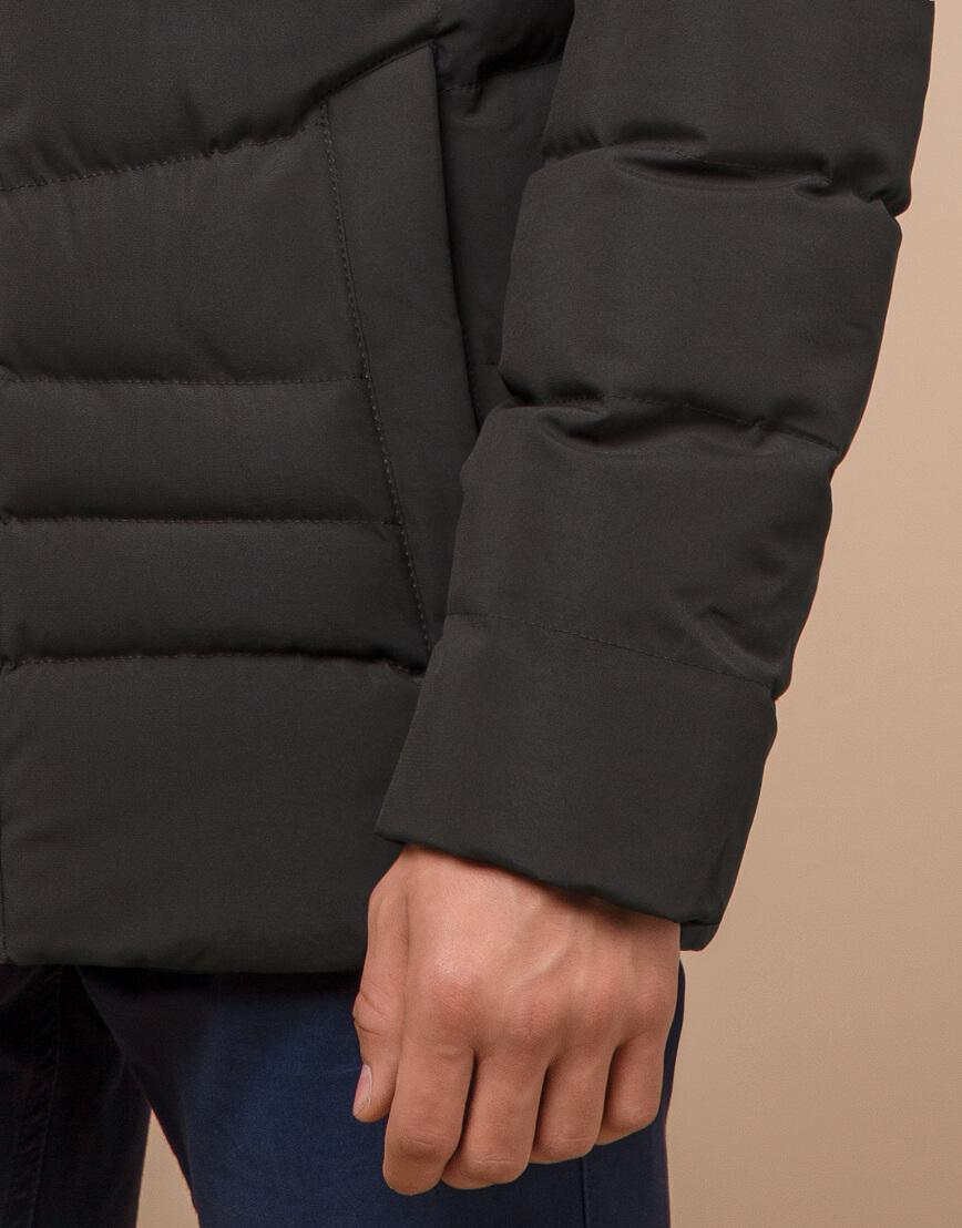 Куртка зимняя цвета кофе трендовая модель 25480 фото 6